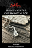 Sterling Silver Spanish Guitar Necklace