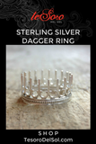 Sterling Silver Dagger Ring