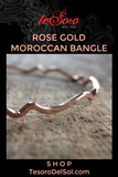 Rose Gold Moroccan Bangle