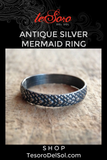 Antique Silver Mermaid Ring