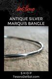 Antique Silver Marquis Bangle