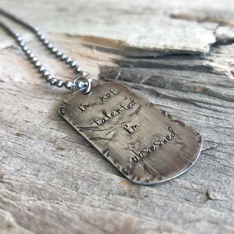 Men's Distressed Dog Tag Necklace