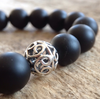 Men's Matte Black Onyx Bracelet - 10mm - TesoroDelSol