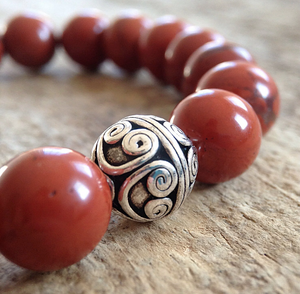 Men's Sterling Silver Mala Bracelet - 10mm