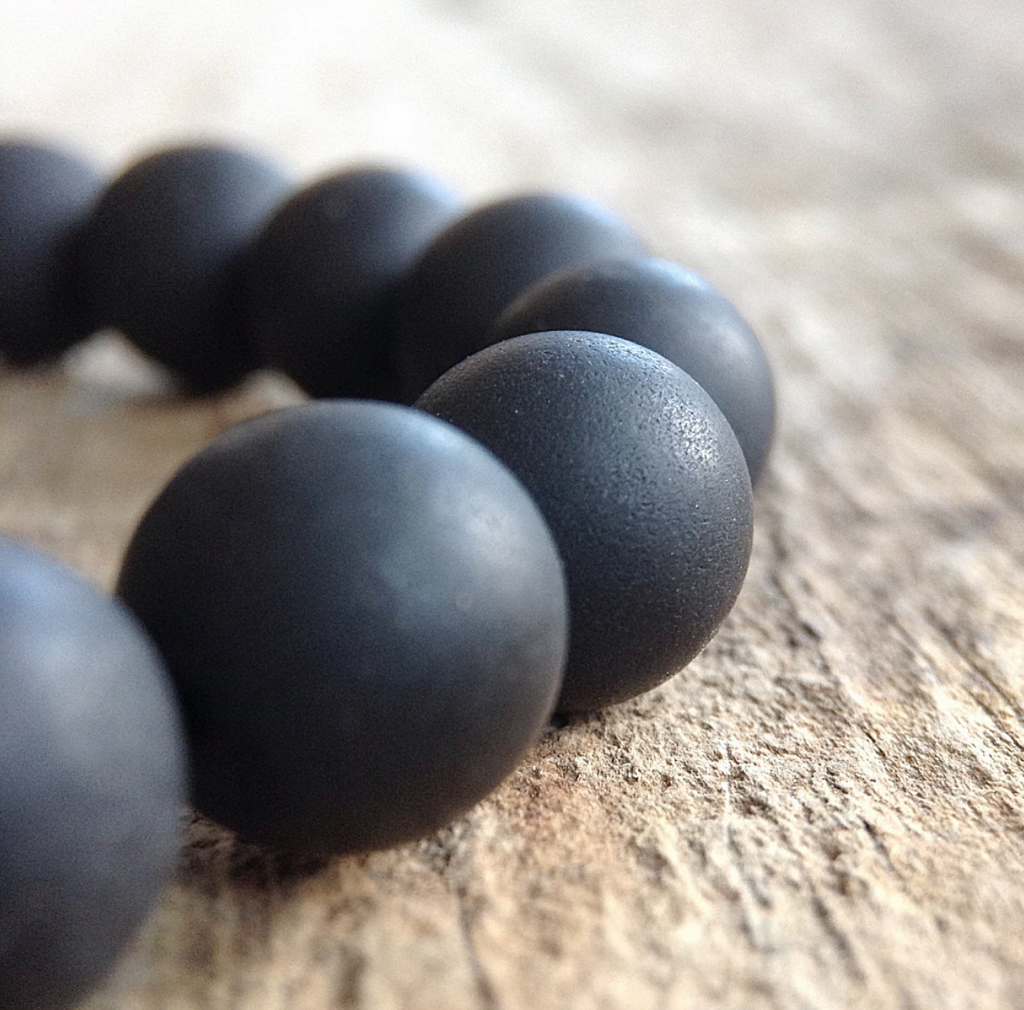 Men's Black Onyx Beaded Bracelet - TesoroDelSol