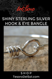 Sterling Silver Hook and Eye Bangle