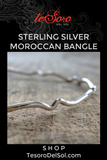 Sterling Silver Moroccan Bangle