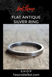 Flat Antique Silver Ring
