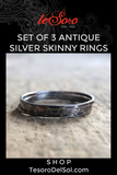 Set of 3 Antique Silver Rings