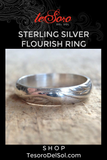 Sterling Silver Flourish Ring