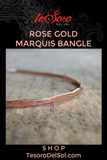 Rose Gold Marquis Bangle