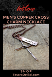 Men's Cross Charm Name Necklace