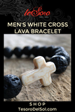 Men's White Cross Bracelet