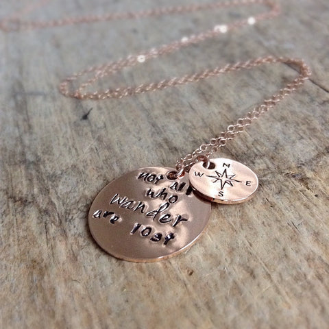 Rose Gold Wanderlust Necklace
