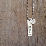 Men's Sterling Silver Coordinates Necklace