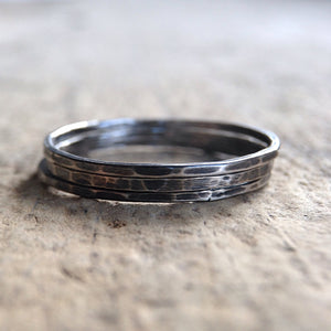 Set of 3 Antique Silver Rings - TesoroDelSol
