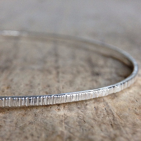 Sterling Silver Tree Bark Bangle