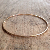 Tree bark bangle from above