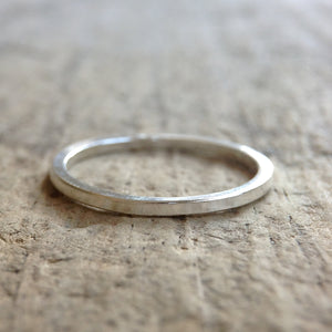 Sterling Silver Square Ring - TesoroDelSol