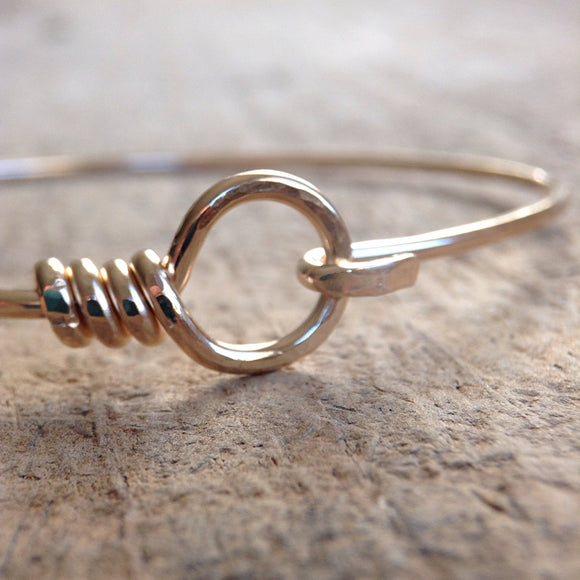 Gold Hook and Eye Bangle