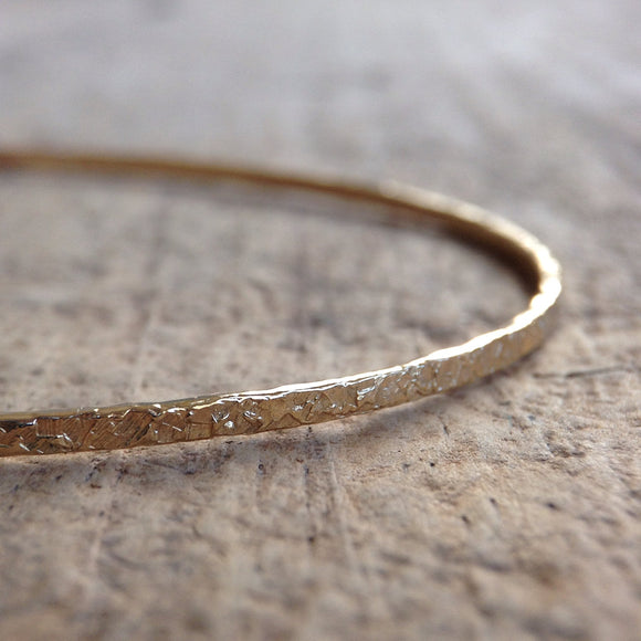 Gold Raw Silk Bangle