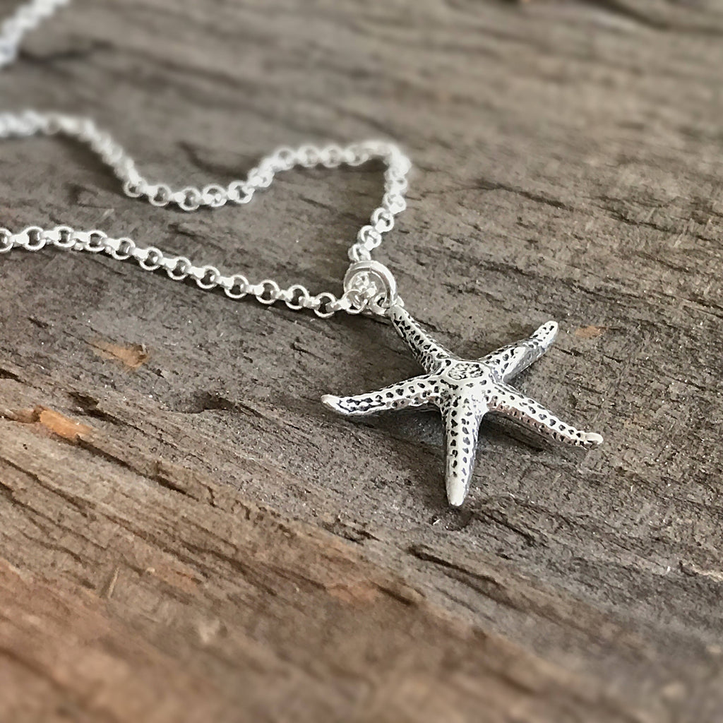 Sterling Silver Starfish Necklace - TesoroDelSol