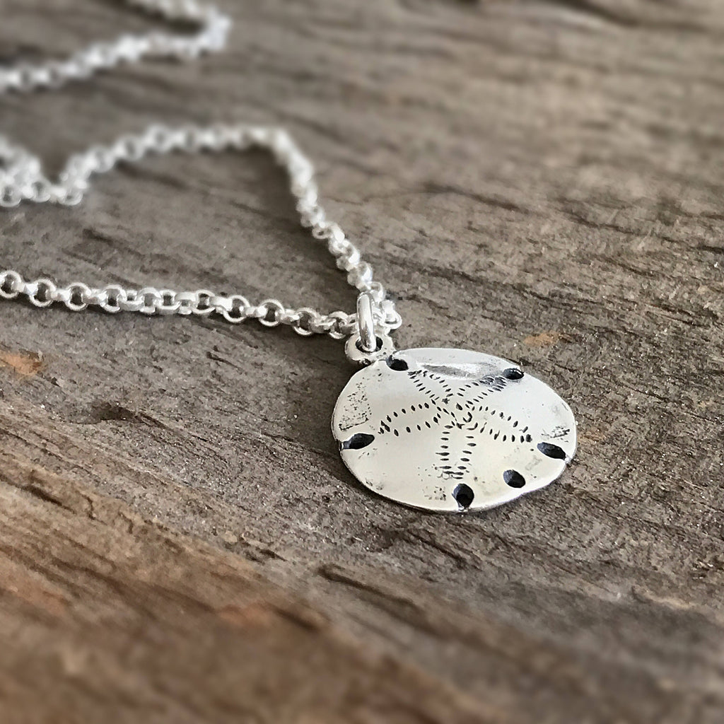Sterling Silver Sand Dollar Necklace - TesoroDelSol