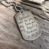 Men's Stainless Steel Dog Tag Necklace - TesoroDelSol