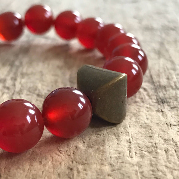 Men's Antique Carnelian Bracelet - TesoroDelSol