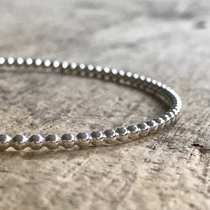 Sterling Silver Beaded Bangle
