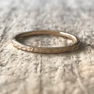 Gold Raw Silk Ring