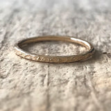 Gold Raw Silk Ring - TesoroDelSol