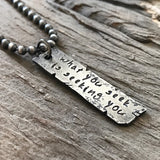 Men's Custom Quote Necklace