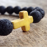 Men's Yellow Cross Bracelet