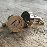 Men's Personalized Gold Initial Cufflinks - TesoroDelSol