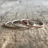 Set of 3 Twist Rings - TesoroDelSol