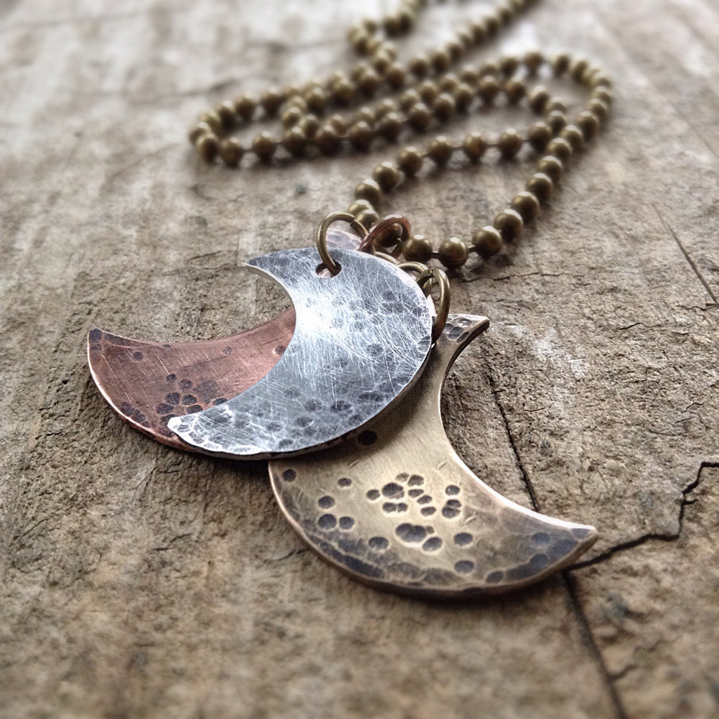 Men's Rustic Moon Phases Necklace - TesoroDelSol