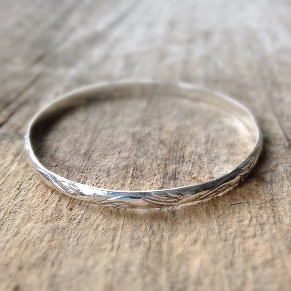 Sterling Silver Flourish Bangle
