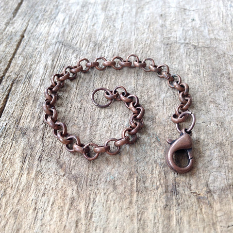 Antique Copper Necklace Chain Extender