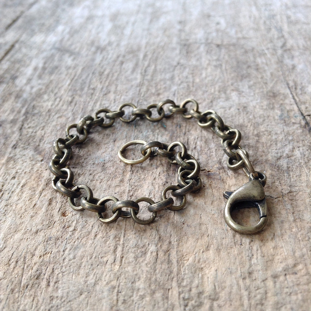 Antique Brass Chain Necklace Extender