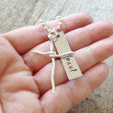 Men's Sterling Silver Rustic Cross Necklace