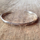 Sterling Silver Flourish Open Bangle - TesoroDelSol