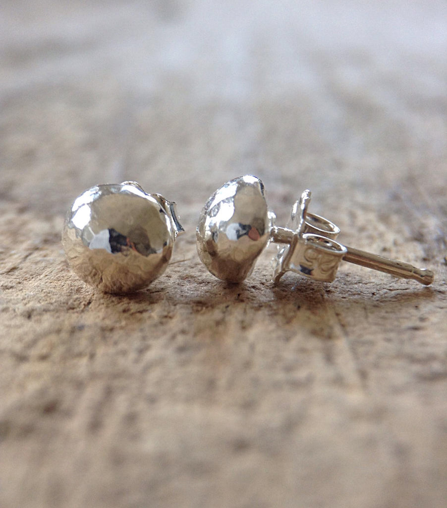 Sterling Silver Dome Stud Earrings - TesoroDelSol