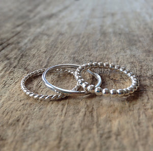 Sterling Silver Ring Set - TesoroDelSol