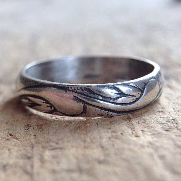 Antique Sterling Silver Flourish Ring