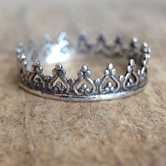 Antique Crown Bohemian Ring