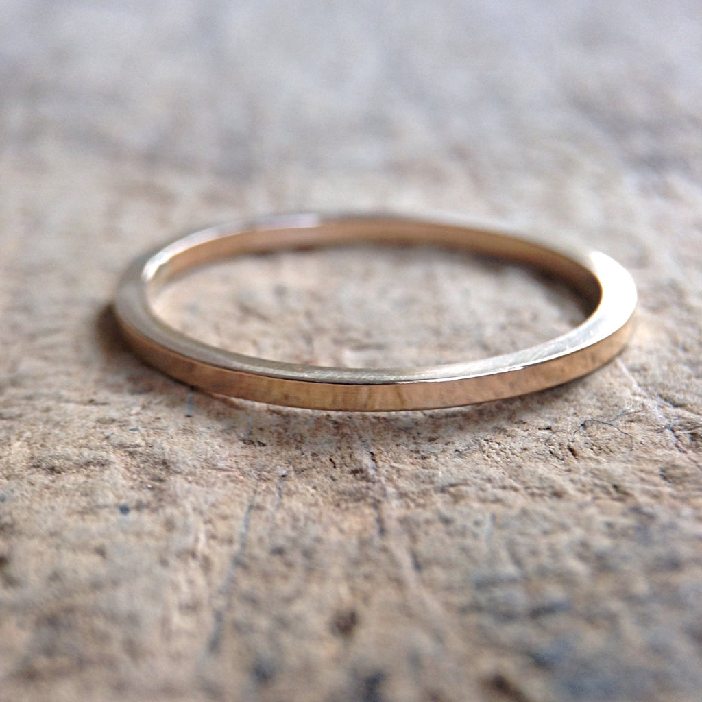 Gold Square Ring - TesoroDelSol