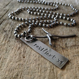 Men's Personalized Rustic Cross Necklace - TesoroDelSol