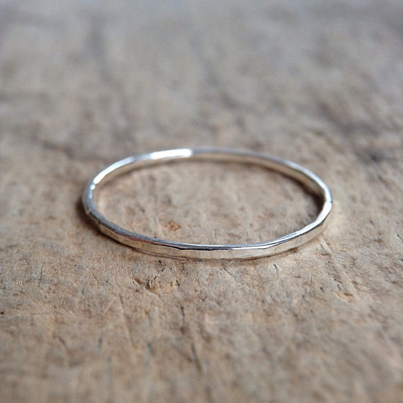 One Sterling Silver Skinny Ring