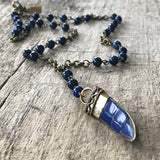 Men's Lapis Lazuli Inlay Necklace